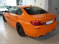 BMW M5 Sonderfarbe Feuer Orange II  Versiegelung Zaino Z2  3 Lagen (mit ZFX)  Frontscheibenversiegelung Nanolex Glasversiegelung Ultra