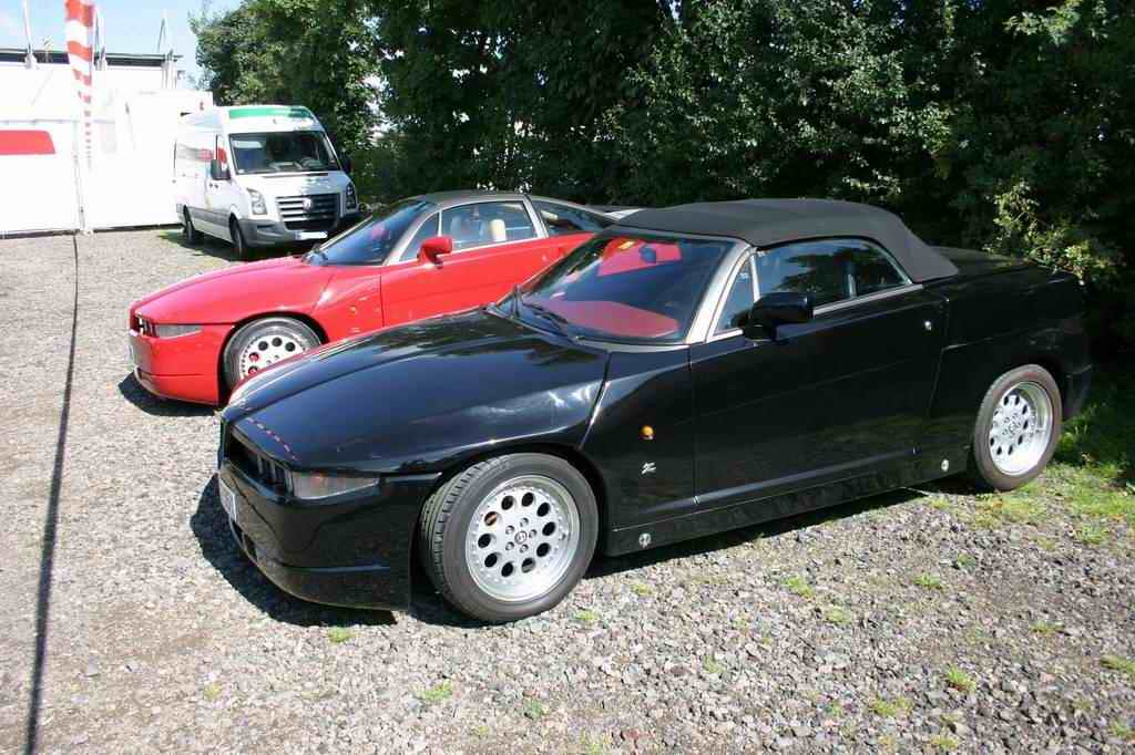 Alfa Romeo SZ (rot) und RZ (schwarz) (OGP 2008)