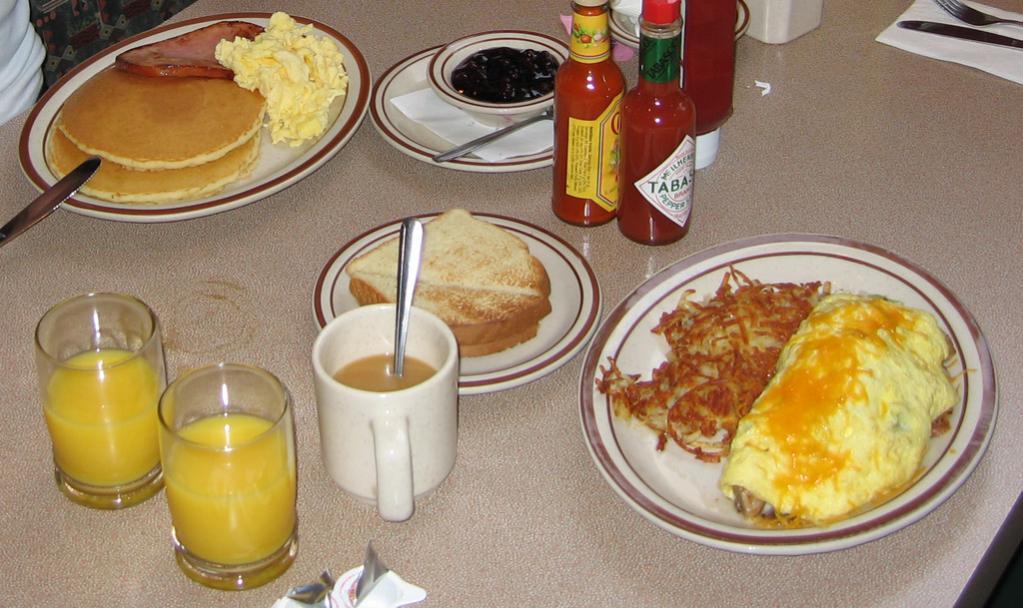 Das amerikanische Essen macht mich einfach fertig. :D