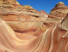 """Dieses Naturphänomen ist etwas ganz besonderes. Es ist die sogenannte """"The Wave"""". Dort hin kommt man nur über eine sehr umständliche Wanderung. Allerdings sind dort nur max. 10 Personen pro Tag erlaubt."""