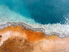 Die Yellowstone Gewässer.