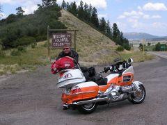 USA Grenze zwischen New Mexico & Colorado