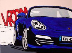 Porsche Boxster - Pop Art - Acryl auf Leinwand (70cm x 50cm)