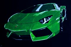Green Bull - Lamborghini Aventador (100cm x 70cm)