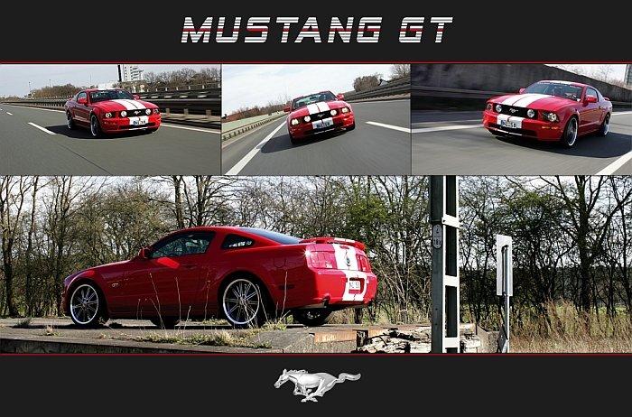 Mustang GT - Versuch während der Fahrt mit schnickers.