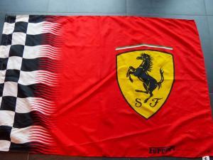 Ferrari Fahne Flagge Zielflagge Stockfahne 140 x 90 cm