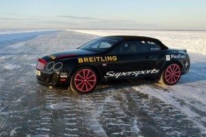 Bentley Continental Supersports Convertible – Weltrekord auf Eis