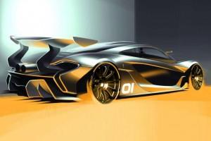 McLaren P1 GTR – Erste Zeichnung