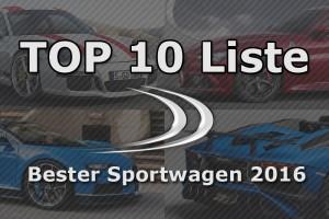 Die 10 besten Sportwagen des Jahres 2016