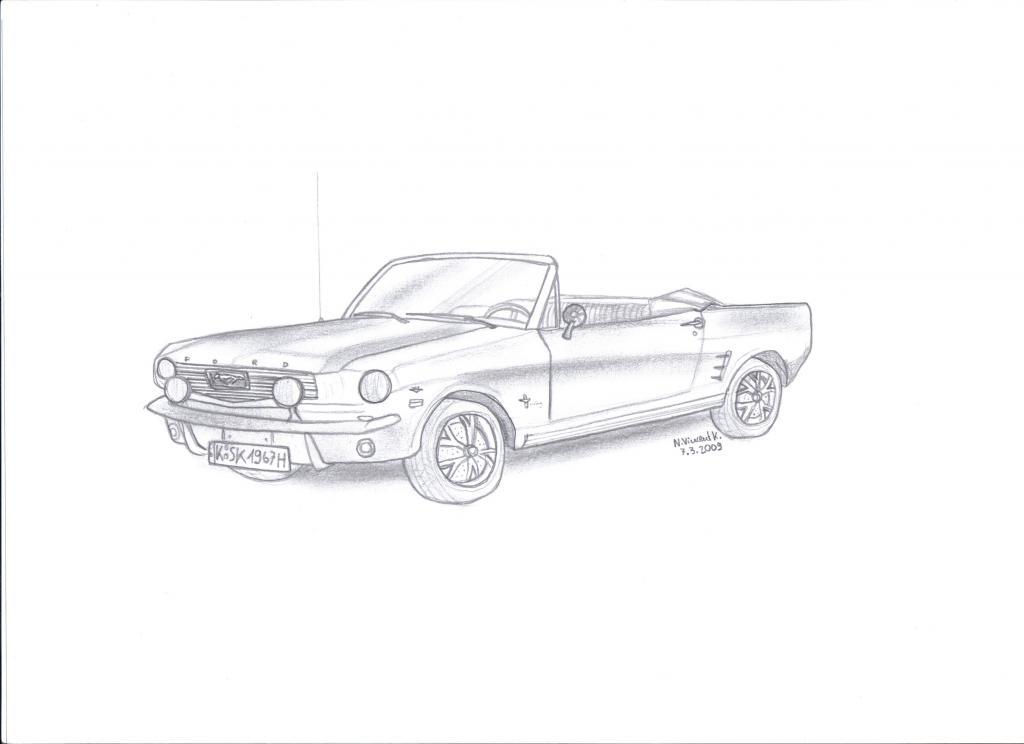 67 Mustang (meine Zeichnung)