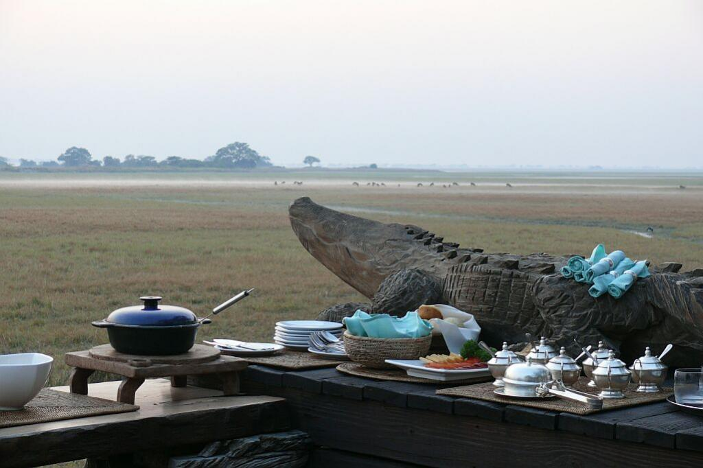 Der Tag erwacht, Shumba Camp - Busanga Plains - Kafue Nationalpark - Zambia