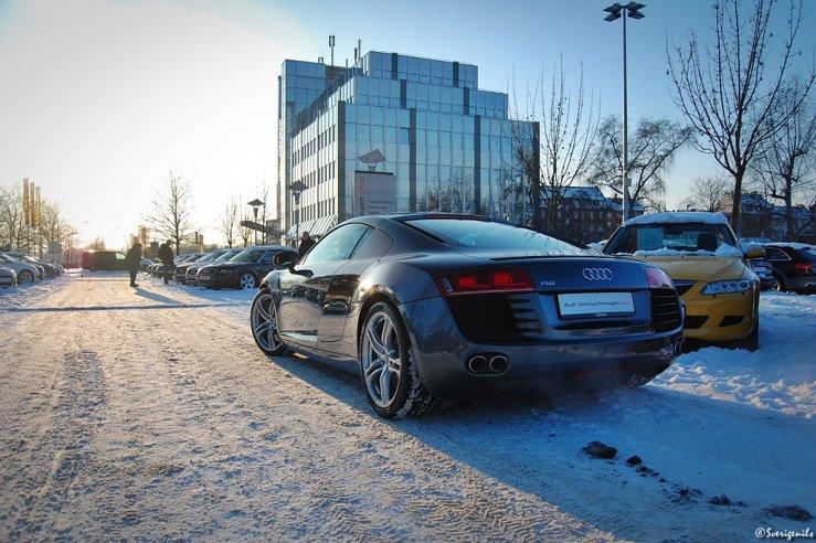 Audi R8 im Schnee