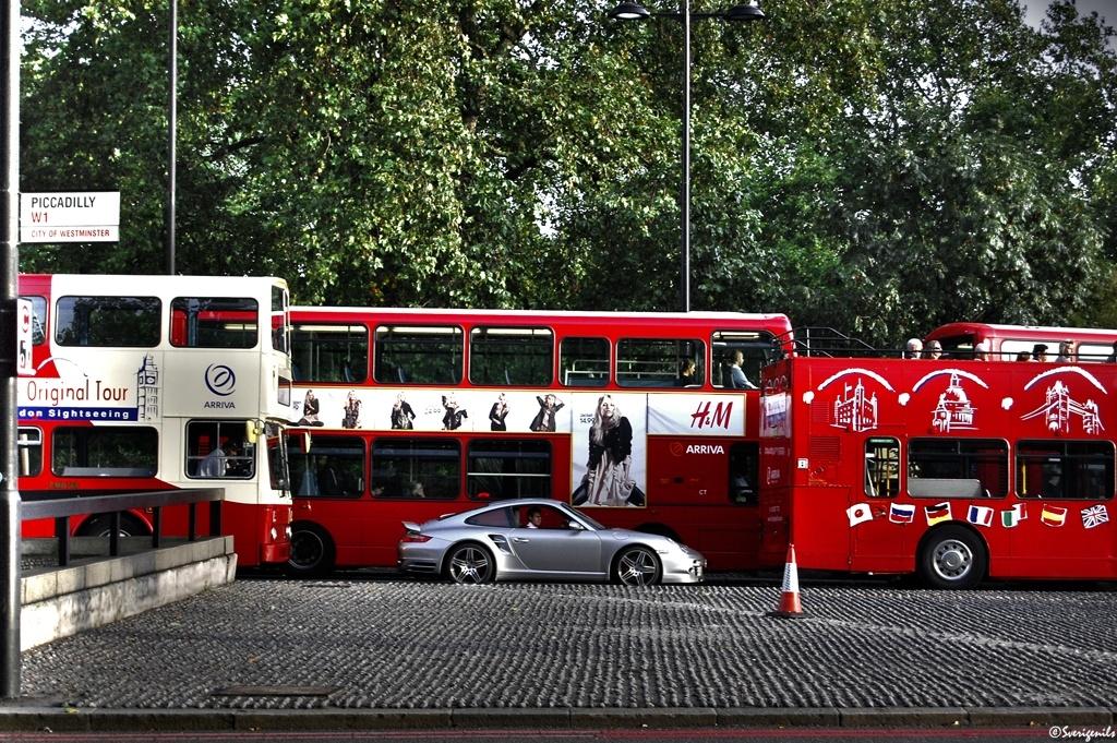 Porsche 997 Turbo im Londoner Alltag