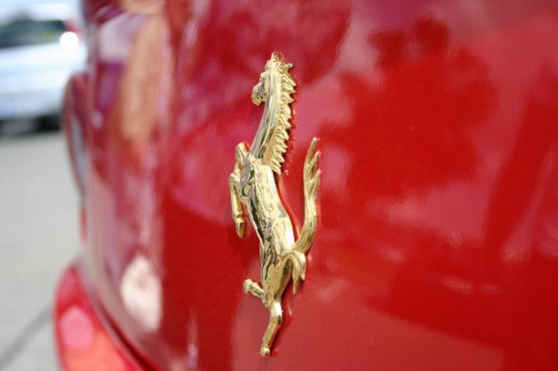 Detail am Ferrari F550 Maranello