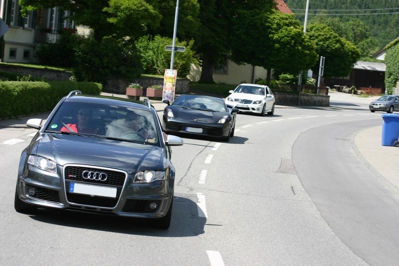 Audi RS4, Lamborghini Gallardo NERA und Mercedes-Benz C63 AMG