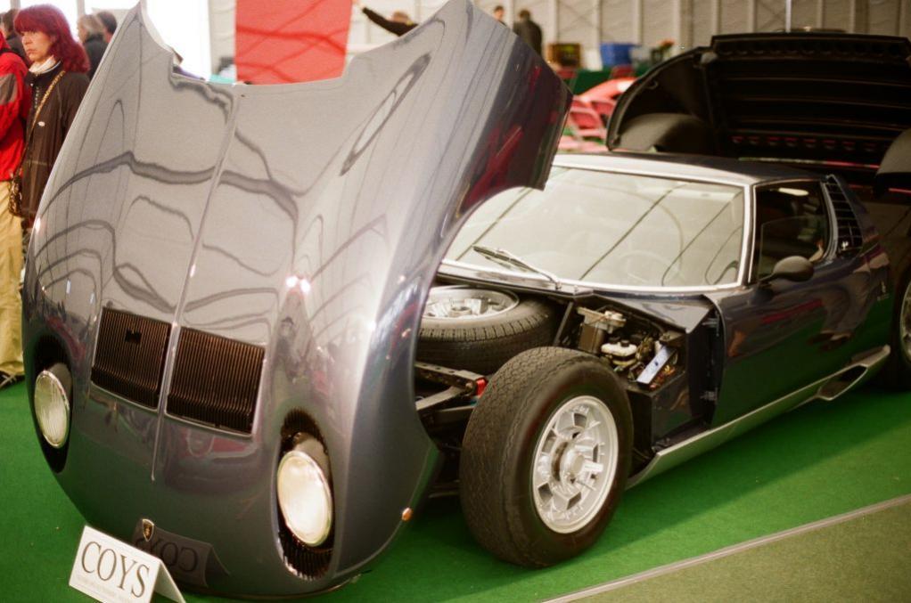 Dieser Lamborghini Miura hat nichts zu verbergen, wie man sieht. Für meine Begriffe nach wie vor einer der faszinierendsten Sportwagen überhaupt.