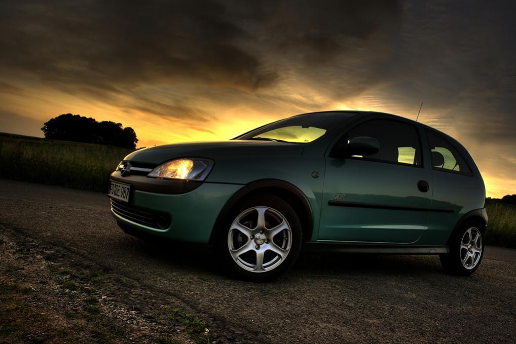 Opel Corsa sunset