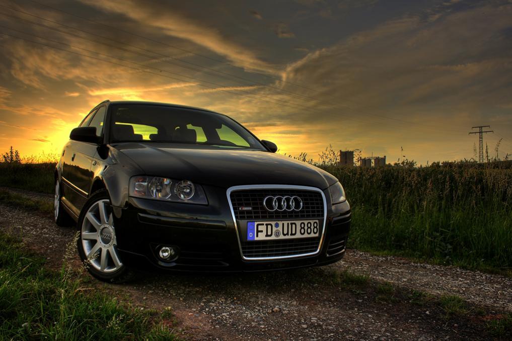 Audi A3 Sportback sunset