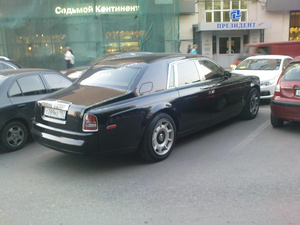 Rolls-Royce Phantom auf dem Moskauer Arbat, Mai 2011