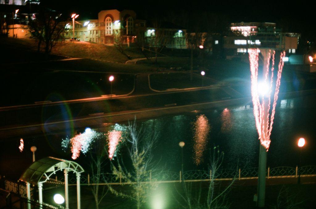 Blick aus meinem Hotelzimmer in Saransk, Anfang Dezember 2008