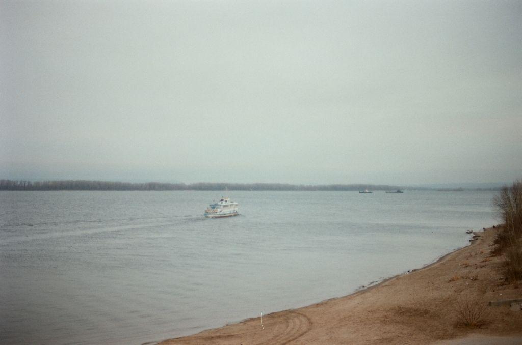 Die Wolga bei Samara, Dezember 2008