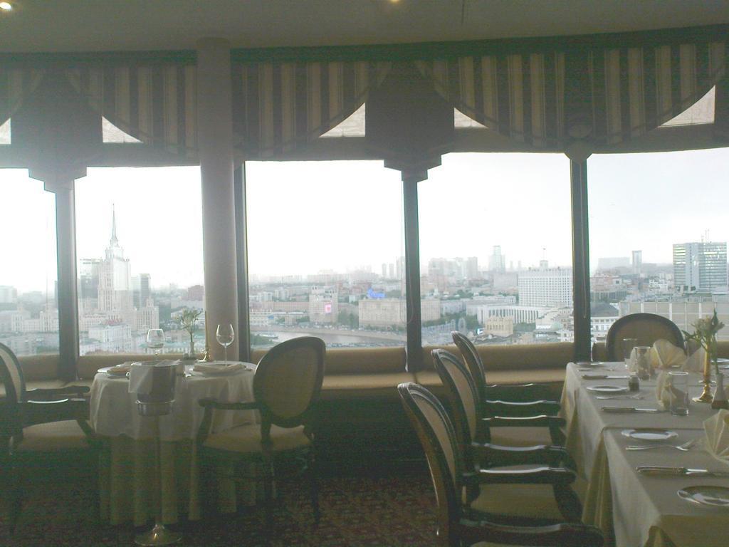 Einer der schönsten Aussichtspunkte in Moskau: das Panorama-Restaurant im 22. Stock des Hotels Golden Ring