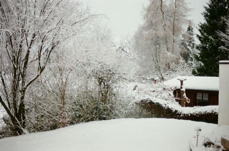 Eine weitere Winterstimmung beim Blick aus unserem Haus