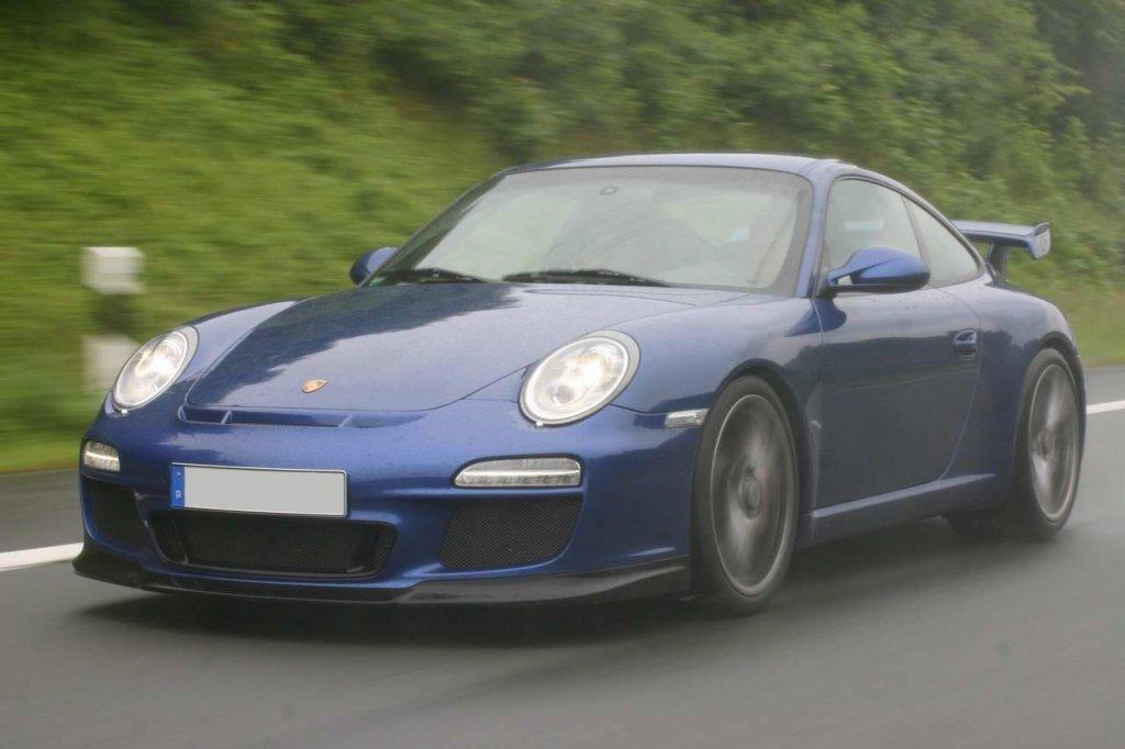 Porsche 997 GT3 Mk II beim Fotoshooting