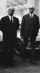 1963 mit Battista Farina in Modena