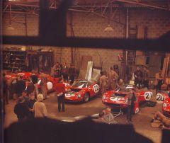 Ferrari-Box Le Mans 1965, Enzo war natürlich vor Ort.
