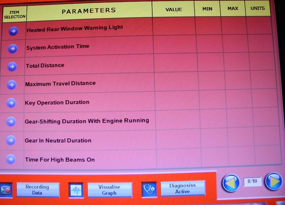 Parameters 8 1000