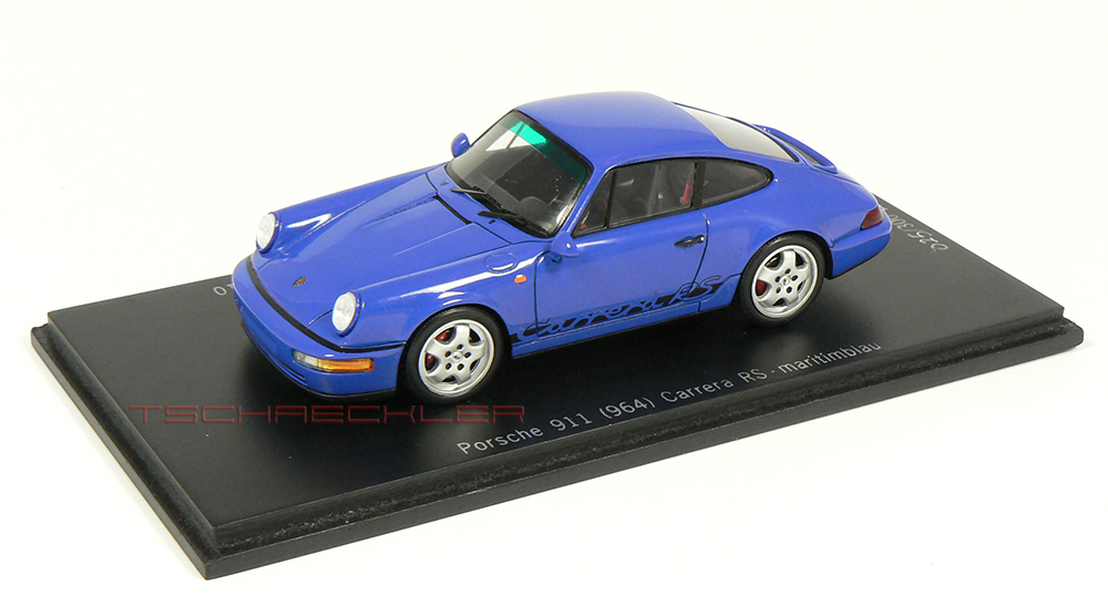 Porsche Carrera 964 RS, Maritimblau, Limitiert 300 Stück, Hersteller: Spark