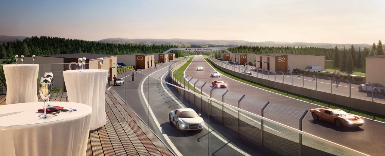 Bilster Berg drive resort  Start Ziel und Boxengasse