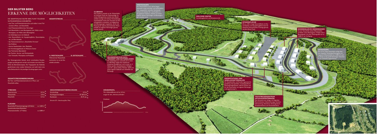 Bilster Berg drive resort  Streckenübersicht