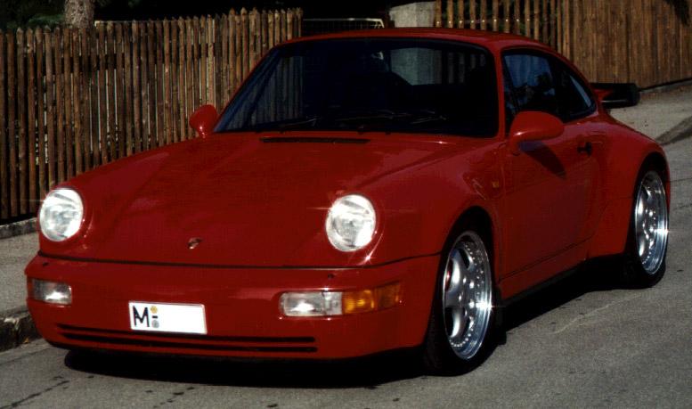 Mein ehemaliger 964 Turbo 3.6 mit Techart Auspuff.