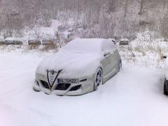Mein Baby Mit Schnee Bedeckt