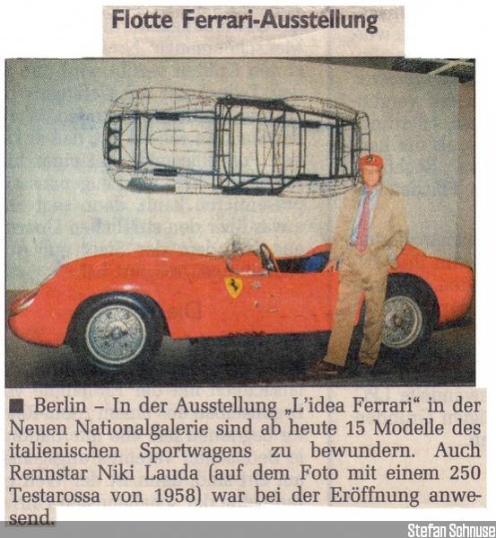 Zeitungsausschnitt Eröffnung Lauda