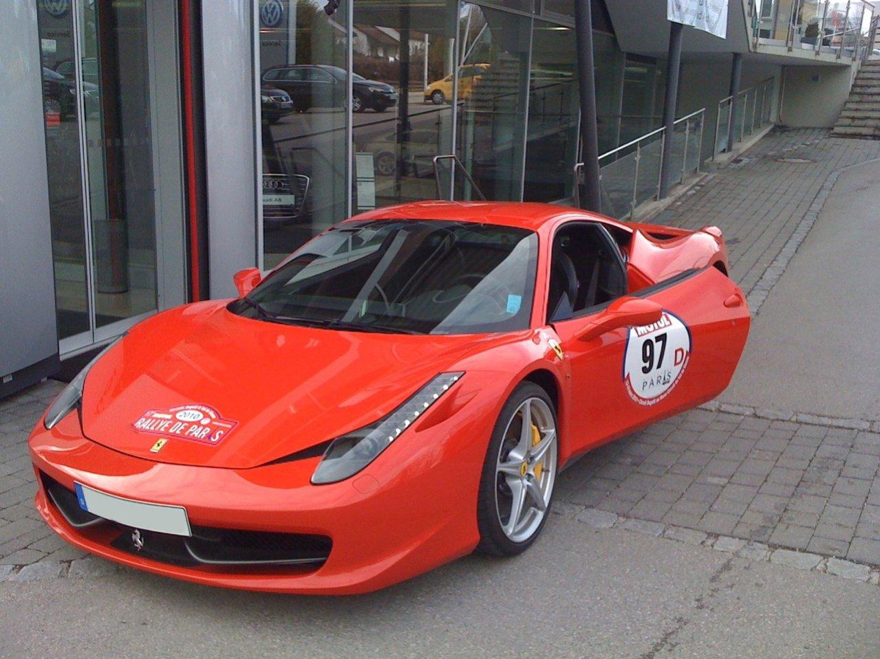 Probefahrt mit dem Ferrari 458 Italia