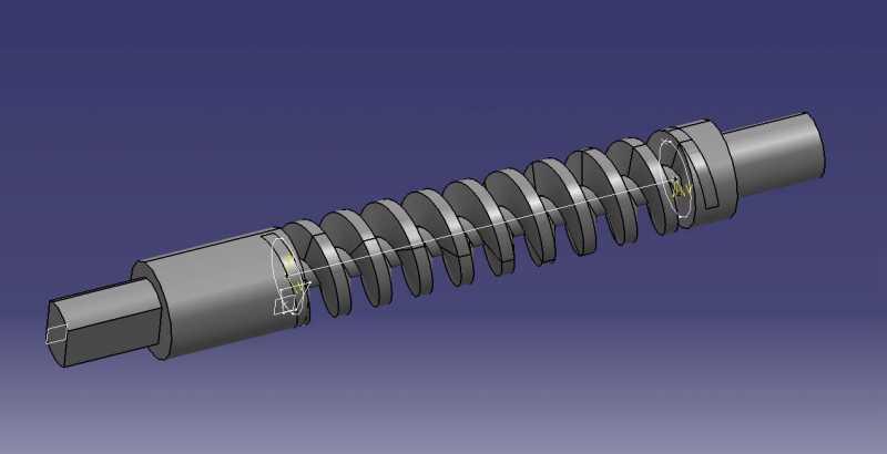 Antriebsspindel Fensterhebermotor