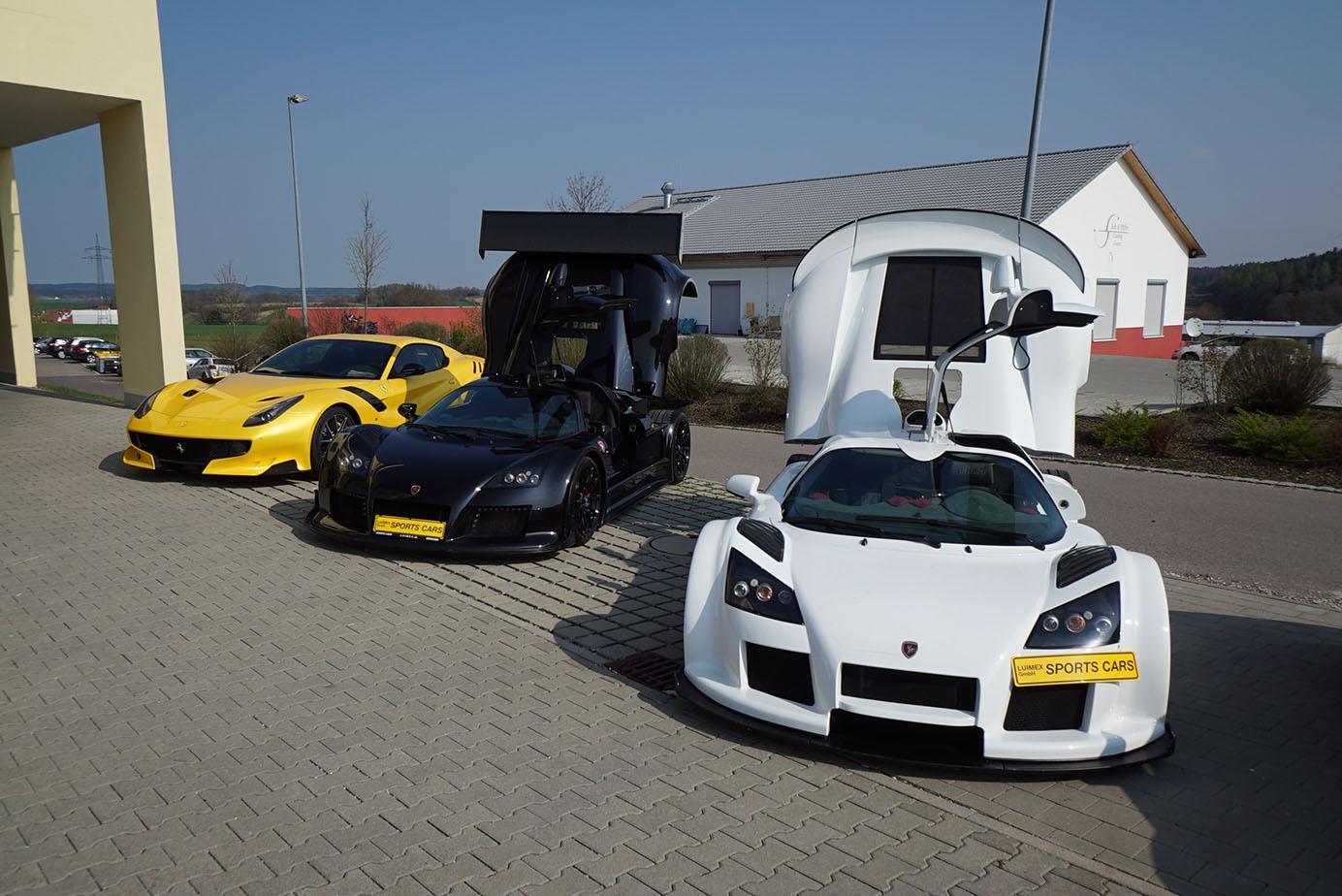 Ferrari F12 tdf und Gumpert Apollo