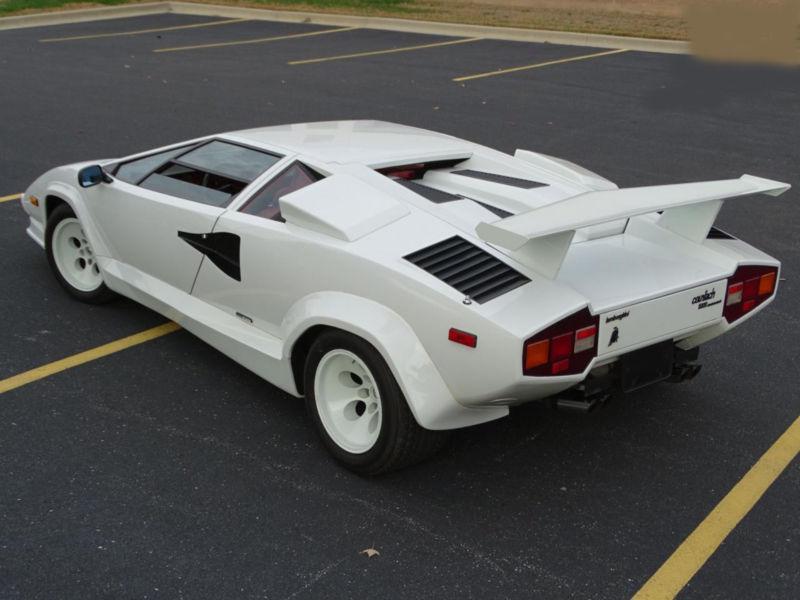 Befestigen Universal Teppiche Lamborghini Countach Countach Weiß Anstand