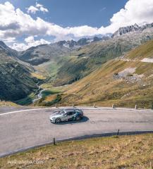 Auf dem Furkapass während der Schweiztour