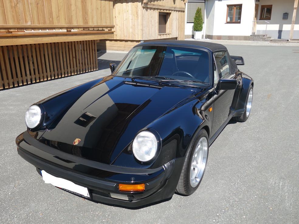 Porsche 930 Cabrio uni-schwarz