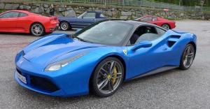 Ferrari 488 GTB - Blu Corsa / Nero - Pelle Nero / LIFT!!!