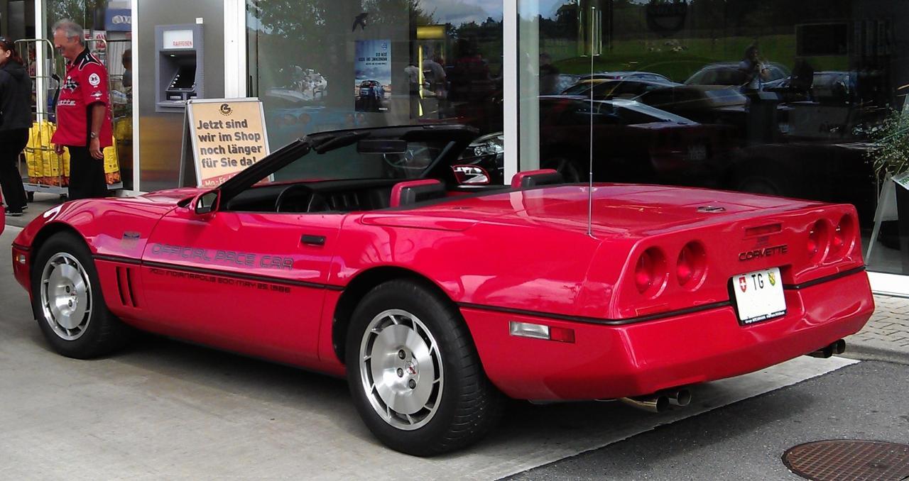 garage von cobra66driver corvette c4 indy pace car 1986 cabrio. Black Bedroom Furniture Sets. Home Design Ideas